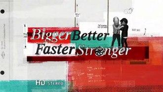 Bigger, Better, Faster, Stronger - Image: Bigger Better Faster Stronger title screen
