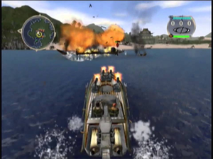 Blood Wake - Blood Wake is a water combat game featuring various types of boats and ordinance.