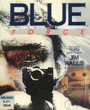 Blue Force - 3½-inch floppy disk cover art