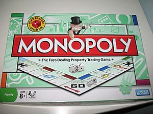 Monopoly (game) - The board cover of the standard British version, with the 2008–13 artwork