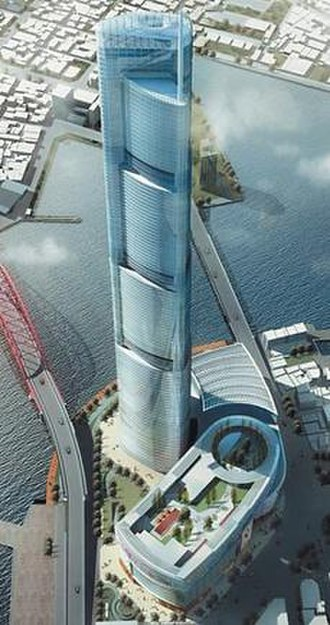 Busan Lotte Town Tower - Proposed plan for the appearance of Busan Lotte Town Tower