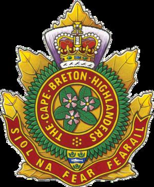 Cape Breton Highlanders - Image: Cape Breton Highlanders badge