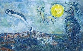 Soleil dans le ciel de Saint-Paul - Image: Chagall, Soleil dans le ciel de Saint Paul