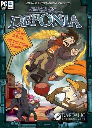 Chaos on Deponia - North American cover art