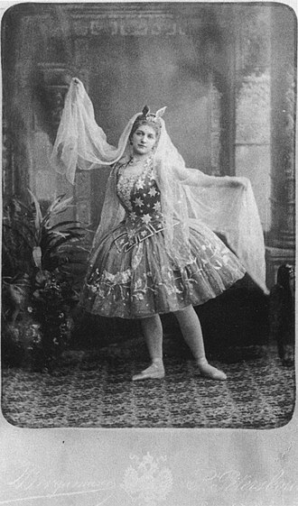 Cinderella (Fitinhof-Schell) - Maria Anderson as the Good Fairy in the Imperial Ballet's production of Cinderella. St. Petersburg, 1893