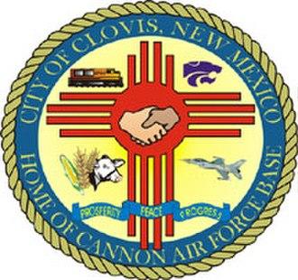 Clovis, New Mexico - Image: Clovis N Mseal