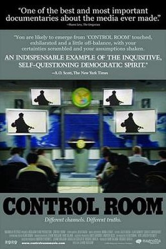 Jehane Noujaim - Theatrical release poster for Control Room (2004), which Noujaim directed, filmed, and co-wrote