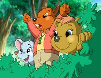 Forest Friends - A scene featuring three characters from this series.