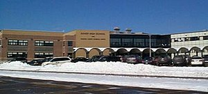 Dover High School (New Hampshire) - Arched entrance to Dover High School