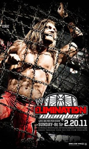 Elimination Chamber (2011) - Promotional poster featuring Edge