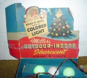 Christmas lights - A set of fluorescent Christmas lights