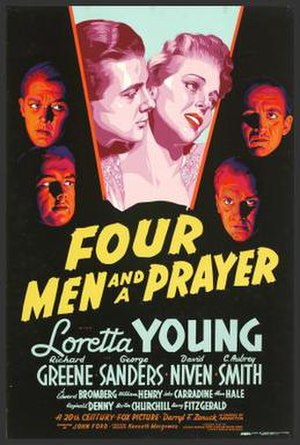 Four Men and a Prayer - Film poster