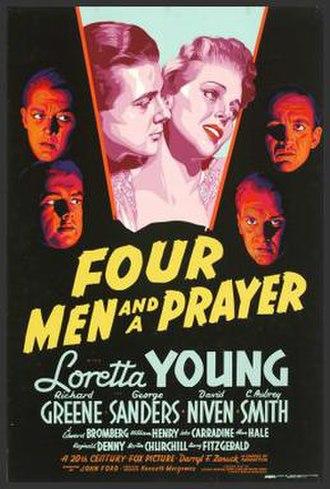 Four Men and a Prayer - Film poster