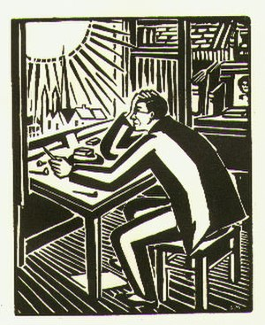 Gods' Man - Ward read Frans Masereel's wordless novel The Sun (1919, pictured) while he was studying in Germany.