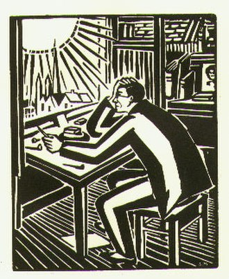 Wild Pilgrimage - Ward read Frans Masereel's wordless novel The Sun (1919, pictured) while studying in Germany.