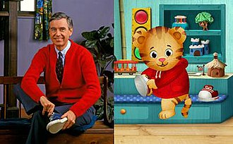 Daniel Tiger's Neighborhood - The character Daniel Tiger is based on Mr. Rogers, and elements of his home are based on the set of Mister Rogers' Neighborhood.