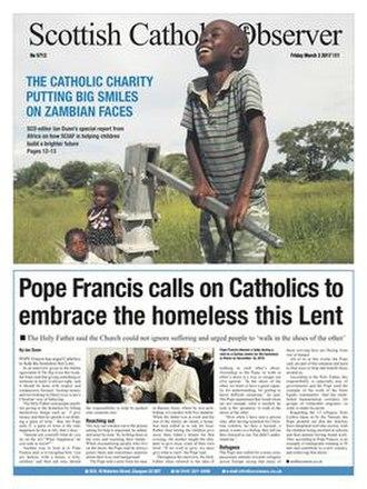 Scottish Catholic Observer - Image: Front page of the Scottish Catholic Observer 03 March 2017