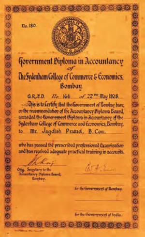 Institute of Chartered Accountants of India - Government Diploma in Accountancy Certificate