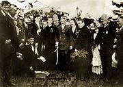 Thomas I. Gasson, SJ at groundbreaking festivities.