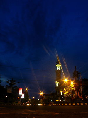 Cilacap Regency - Darussalam Mosque is Cilacap's greatest mosque located on the town center