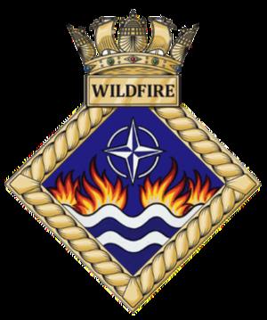 HMS Wildfire (shore establishment 2000) - Image: HMS Wildfire badge