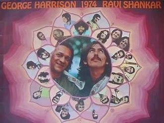 George Harrison and Ravi Shankar's 1974 North American tour - Image: Harrison Shankar 1974 tour programme
