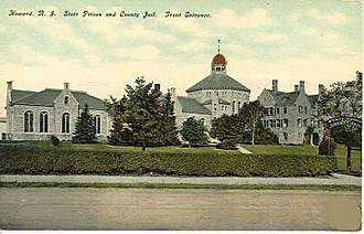 "Cranston, Rhode Island - ""Howard Prison"" in Cranston, Rhode Island at the turn of the 20th century"