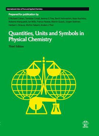 Quantities, Units and Symbols in Physical Chemistry - Front cover of the Green Book