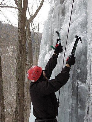 Ice tool - An ice tool being placed