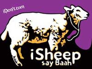 ISheep - The iSheep mascot, listening to an iPod.