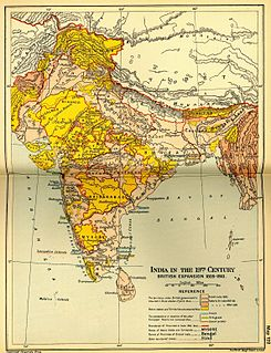 Company rule in India Rule or dominion of the British East India Company on the Indian subcontinent