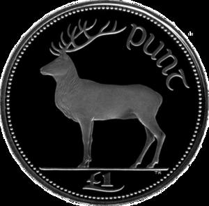 One pound (Irish coin) - Image: Irish pound (reverse)