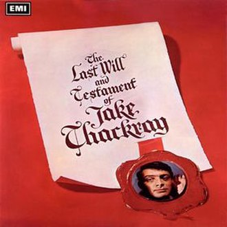 The Last Will and Testament of Jake Thackray - Image: Last Will Jake Thackray