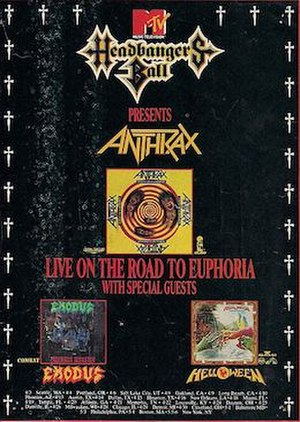 Headbangers Ball Tour - A promotional poster for the Headbangers Ball tour