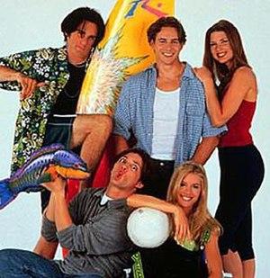 Malibu, CA (TV series) - The season 1 cast of Malibu, CA. Top row (L-R): Brandon Brooks, Trevor Merszei, and Gina Marie May. Bottom row (L-R): Jason Hayes and Wendi Kenya.