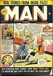 Man Comics 1 Dec 1949 One Of Buscemas Earliest Recorded Comic Book Covers
