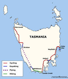Route map of the 2003 Mark Webber Challenge