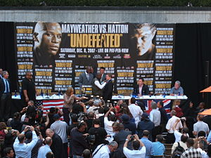 Press Conference in NYC for the forthcoming fight