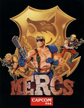 Mercs - Promotional arcade flyer