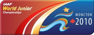 2010 World Junior Championships in Athletics - Image: Moncton 2010 logo iaaf