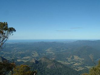 Mount Warning - View of Byron Bay and surrounding areas from the summit