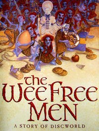 Nac Mac Feegles on the cover of The Wee Free Men