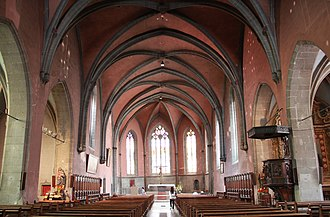 Église Saint-Maurice, Annecy - Image: Nave of Eglise Saint Maurice Annecy