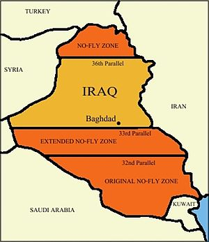 Military history of Iraq - No-fly zones in Iraq, 1992–2003
