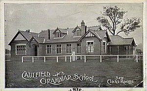 Caulfield Grammar School - The original buildings on Caulfield Campus's current site, circa 1910
