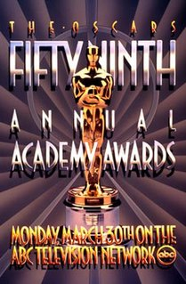59th Academy Awards Award ceremony presented by the Academy of Motion Picture Arts & Sciences for achievement in filmmaking in 1986