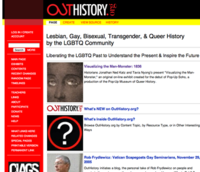 Screenshot of OutHistory.org homepage