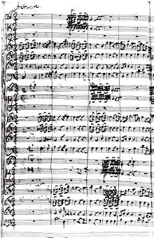 """Johann Friedrich Fasch Concerto in D for Three Choirs (""""Royal Fireworks Music""""), FWV L:D13, movement no 2 """"Andante"""" (Source: Wikimedia)"""