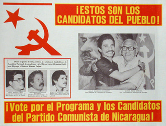 Communist Party of Nicaragua - 1984 PCdeN election poster