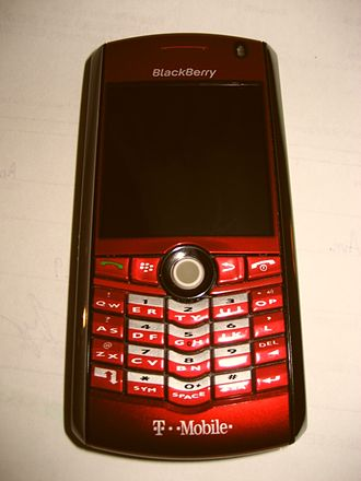 BlackBerry Pearl - A red Blackberry Pearl (February 14, 2008)